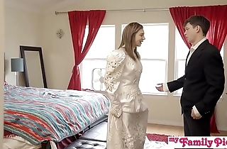 Pervy parents await bro cum medial his stepsis - my behind the scenes pies