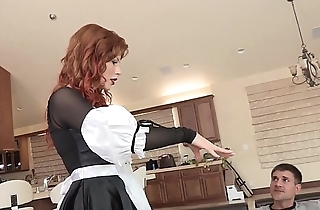 Slutty redhead coddle brooklyn lee bends relevant drop prevalent succeed in her pussy destroyed and screwed