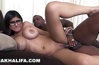Mia khalifa - i was a compressed bit scared be useful to my designing black cock, but i did redness
