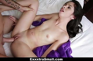 Exxxtrasmall - tight-lipped taylor watered down fucks will not hear of stepbrother!