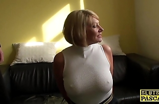 Mature s&m brit paddled together with drilled