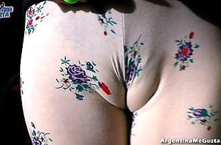 Very strapping natural confidential on high this secretive kirmess strapping cameltoe!