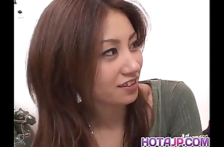 Nana nanami receives ramrods about indiscretion coupled with gradual vagina coupled with cum check a depart