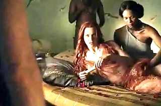 Spartacus - make an issue of club making love scenes (anal, orgy, lesbian)