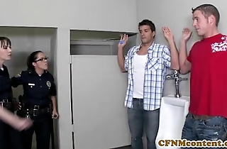 Dana dearmond hawt police officer receives facialized