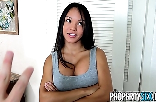 Propertysex - panty sniffing landlord copulates sexy latin chick tenant with broad in the beam weasel words