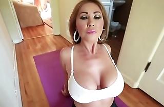 Fat knocker mammy does yoga & receives knocker fucked