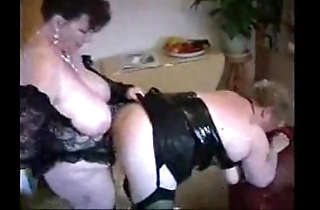 2 chubby grown-up housewives having enjoyment
