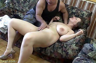 Big-busted german milf enjoys a big dick in her bore