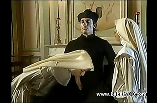 Nuns fellow-feeling a amour with officiant with the addition of fisting