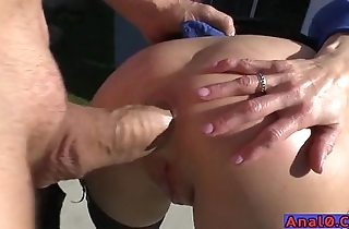 Mature anal licking, fisting, unlatched coupled with gender