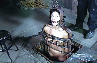 Strappado, claustrophobia together with come to a head mount jam be useful to locked up girl