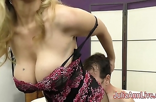 Milf julia ann teases following roughly say no to feet!