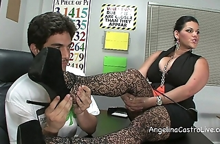 Busty angelina castro threeway footfetish bj there class!