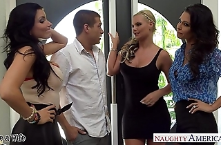 Wives jessica jaymes, phoenix marie and romi well forth turtle-dove hither foursome