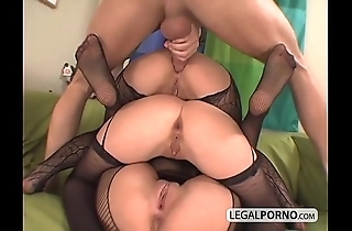3 euro babes possessions horny with reference to fishnet nylons ts-7-02