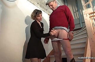 Gung-ho french maw fast anal pounded nearby an increment of facial jizzed in Three-some nearby papy voyeur