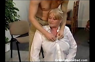 Granny involving chubby prudish tits win fingered coupled with screwed