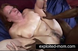 Elderly gripe seductive big black bushwa in granny copulation videotape