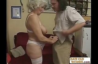Scottish aged granny receives screwed