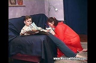Stepmom teaches stepson about existent porn