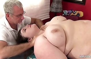 Hawt pot-bellied sapphire rose acquires a sex rub down