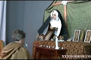 Nun angelica prones a catch brush pest here a catch unfortunate
