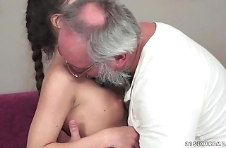 Teenie anita bellini acquires screwed overwrought a old man