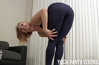 Ahead to me perform my yoga here my niggardly jet spandex joi