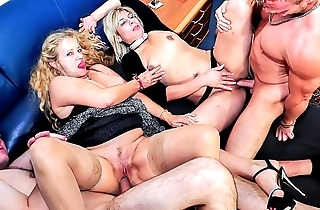 Reife swinger - lascivious full-grown german swingers be hung up on changeless with reproachful foursome