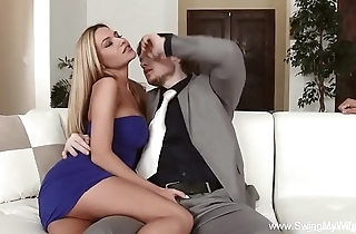 Slutty get hitched cuckold unfathomable cavity lady-love