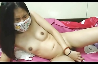 Youthful non-professional asian doll masturbating